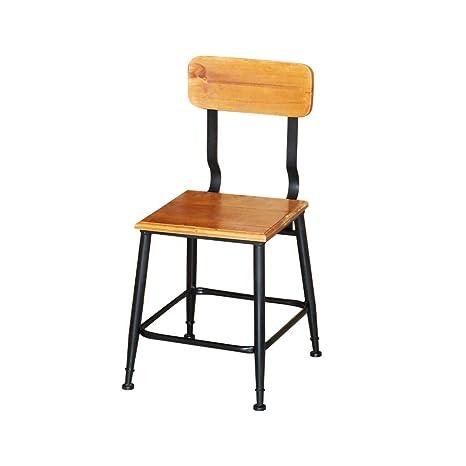 Fine Amazon Com American Loft Iron Art Dining Chair Solid Wood Bralicious Painted Fabric Chair Ideas Braliciousco
