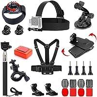 VVHOOY 24 in 1 Accessories Bundle Kit for AKASO EK5000 EK7000 4K DBPOWER EX5000 Full HD Underwater Sports Action Camera