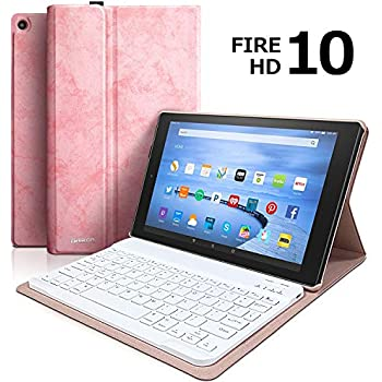 Amazon.com: Funda con teclado para tablet HD 10 (7ª ...