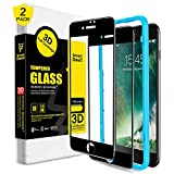 SMARTDEVIL Screen Protector for iphone 7 Plus/8 Plus,3D Full Coverage Tempered Glass-[Easy Installation Frame], Premium Protective Film Manufacturer for iphone 8 Plus/7 Plus