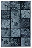 Mohawk Home Free Flow Artifact Panel Blue Patchwork Printed Area Rug, 5'x8', Blue