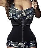 Women's Hot Sweat Slimming Neoprene Shirt Vest Body Shapers For Weight Loss (S, Black)