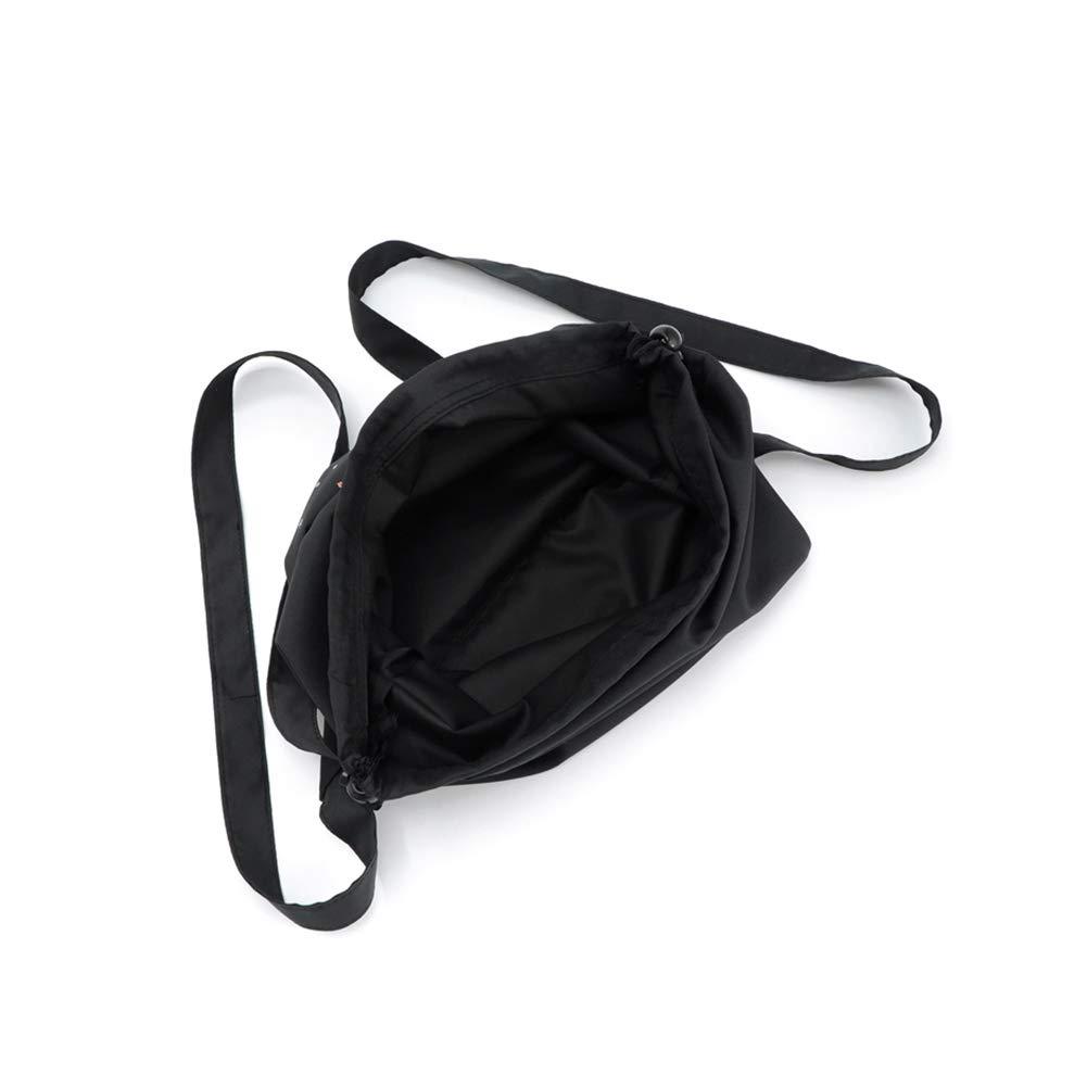 Lubier 1 Pcs Nylon Sacs /à Cordon Sacs de Sport Sac /à Dos /à Cordon de Serrage Sac Sac de Rangement ou de Voyage Pliable Noir