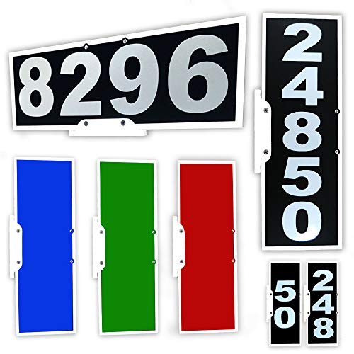 Vertical or Horizontal Mailbox Address Plaque, Reflective 911 Plate, Most Visible Mailbox Address Marker Money Can Buy! (House Green Numbers)