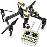 Skin For DJI Inspire 1 Quadcopter Drone – Glitzy Chevron | MightySkins Protective, Durable, and Unique Vinyl Decal wrap cover | Easy To Apply, Remove, and Change Styles | Made in the USA