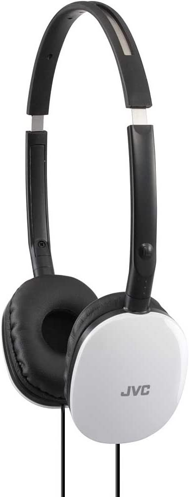 JVC Premium Lightweight Extra Bass Stereo Headphones (White)
