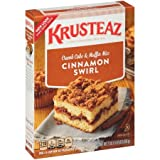 Krusteaz Cinnamon Swirl Crumb Cake and Muffin Mix, 21-Ounce Boxes (Pack of 8)
