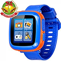 Game Smart Watch for Kids Children Boys Girls with Camera 1.5'' Touch 10 Games Pedometer Timer Alarm Clock Toy Wrist Watch Health Monitor (0001Dark Blue Mix)