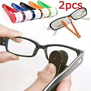 Ikevan Glasses Sunglasses Eyeglass Spectacles Cleaner Cleaning Brush Wiper Wipe Kit