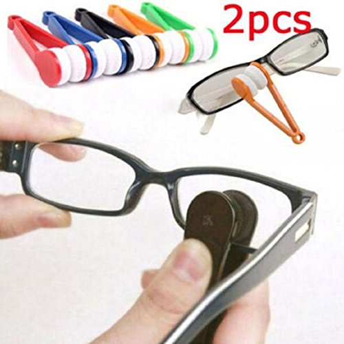 Ikevan Glasses Sunglasses Eyeglass Spectacles Cleaner Cleaning Brush Wiper Wipe - Spectacles Trendy