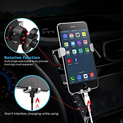 Car Phone Holder, Lamicall Gravity Phone Mount: Universal Cradle Stand Holder Compatible with iPhone Xs XR X 8 7 6 6S Plus 5 5S 5C SE, Galaxy S5 S6 S7 S8, Google, LG, Huawei, Other Smartphone
