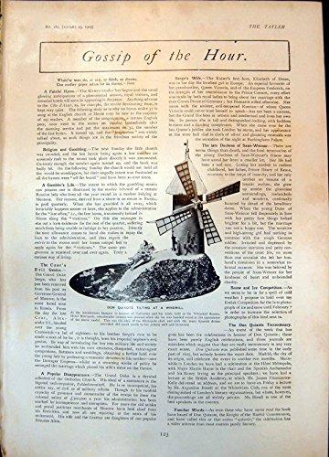 old-print Don Quixote Tilting Windmill Rudyard Kipling George Alexander 190 123Q015