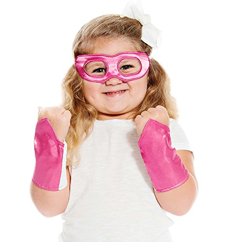 Magenta Superhero Eye Mask and Powerbands