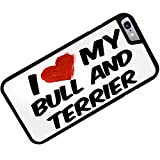 Rubber Case for iphone 6 I Love my Bull and Terrier Dog from United Kingdom - Neonblond