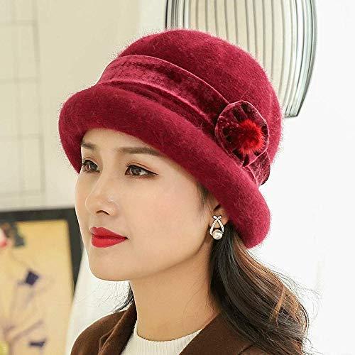 rouge  FUWUX Home Chapeau de Laine d'hiver pour Enfants (Couleur   violet)