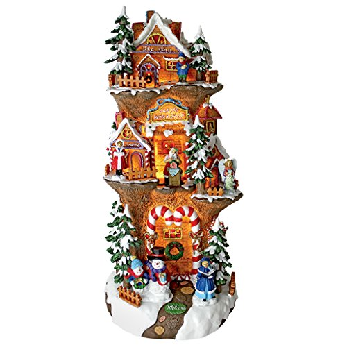 (Christmas Village - Santa's Workshop at the North Pole Illuminated Holiday Lights Statue)