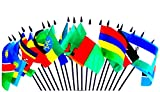 SOUTHEAST AFRICA WORLD FLAG SET--20 Polyester 4''x6'' Flags, One Flag for Each Country in Southeast Side of Africa, 4x6 Miniature Desk & Table Flags, Small Mini Stick Flags