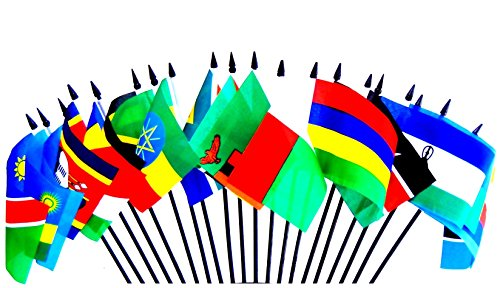 SOUTHEAST AFRICA WORLD FLAG SET--20 Polyester 4''x6'' Flags, One Flag for Each Country in Southeast Side of Africa, 4x6 Miniature Desk & Table Flags, Small Mini Stick Flags by World Flags Direct