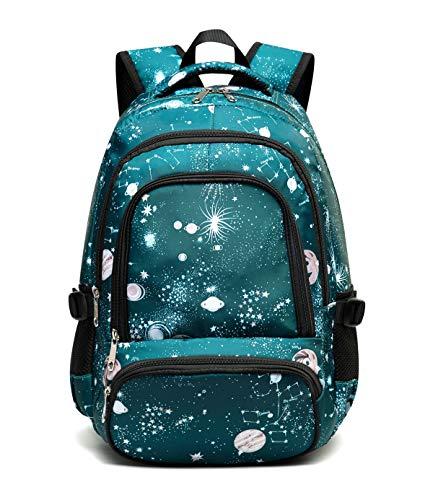 Kids Backpack for Teenage Girls Elementary School Bags High School Bookbags Teenagers (Cyan)