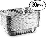 Aluminum Half Size Deep Steam Table Disposable Foil Pan 9X13 Pack of 30 Safe for Use inOven,Freezer, for Cooking, Baking, Storage,