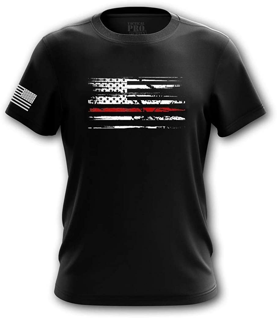 Pro-Gun Second Amendment American Flag Don't Tread on Me Mens T-Shirt Printed & Packaged in The USA