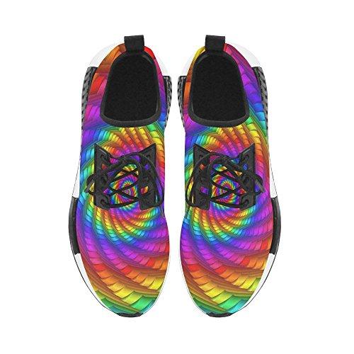 Artsadd Psychedelische Rainbow Spiral Draco Bonuce Running Herenschoenen