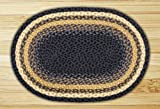 Earth Rugs 09-079 Oval Area Rug 6′ x 9′, Light Dark Blue/Mustard Review