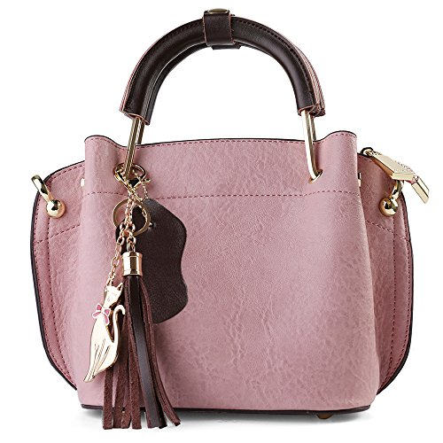 Fashion Cute Carrying top-Handle Bag Crossbody Bag Shoulder Bag Top Handle Satchel Purse (Mauve) (Gsm Cellular Carriers)