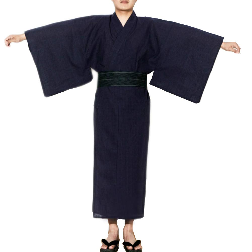 Fancy Pumpkin Jinbei Men's Japanese Yukata Japanese Kimono Home Robe Pajamas Dressing Gown