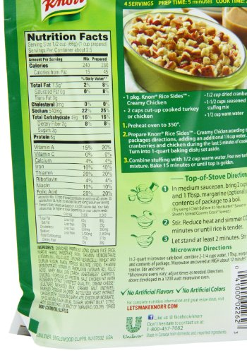 Knorr Rice Sides Rice Sides Dish Creamy Chicken 5 7 Oz Pack Import It All