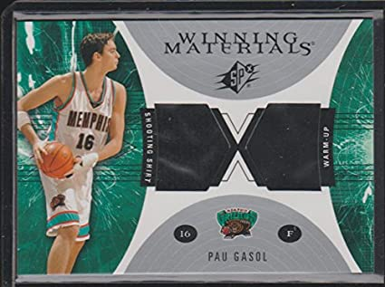 cc676b07676 2003 SPx Pau Gasol Grizzlies Game Used Jersey Basketball Card  WM31 ...
