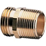 Nelson 50571 Industrial Double-Male Brass Pipe and Hose Fitting for Connecting to 3/4-Inch, Female Hose