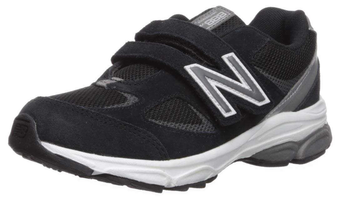 New Balance Boys' 888v2 Hook and Loop Running Shoe, Black/Grey, 2 M US Infant by New Balance (Image #1)