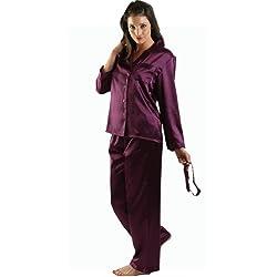 Alexander Del Rossa Women's Classic Satin Pajama Set