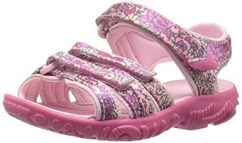 Teva Girls' Tirra Floral Sandal, Pink Floral, 9 M US Toddler ()