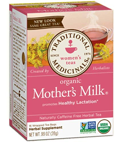 Traditional Medicinals Teas Organic Mother's Milk Tea Bags, 16 Count - 3 Pack ()
