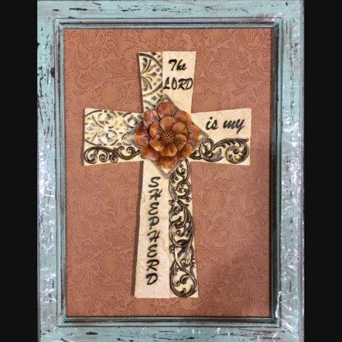(samscustomframing.com framed cross F314 18 x 14)
