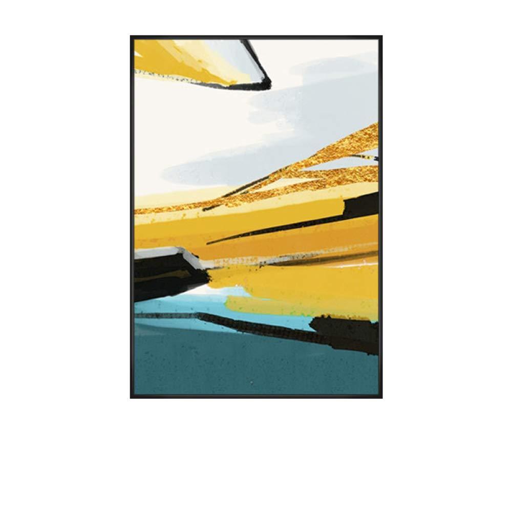 Entrega gratuita y rápida disponible. G 70  100 DEED Pintura Colgante Amarilla Minimalista Moderna, Moderna, Moderna, Pintura Mural del Color Abstracto geométrico, Pintura Decorativa Triple de la Sala, Pintura de Parojo del Restaurante de la línea del oro  todos los bienes son especiales
