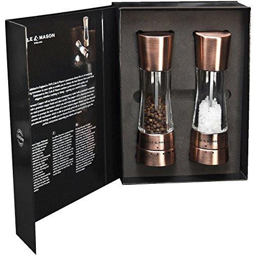Cole & Mason Condiment Bronze Gift da-uxento Chrome.-Salt and Pepper-h59418g 2Pack