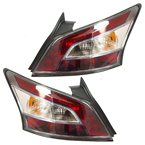 Pair Set Taillights Tail Lamps Replacement for Nissan Maxima 26555-9DA0B 26550-9DA0B -