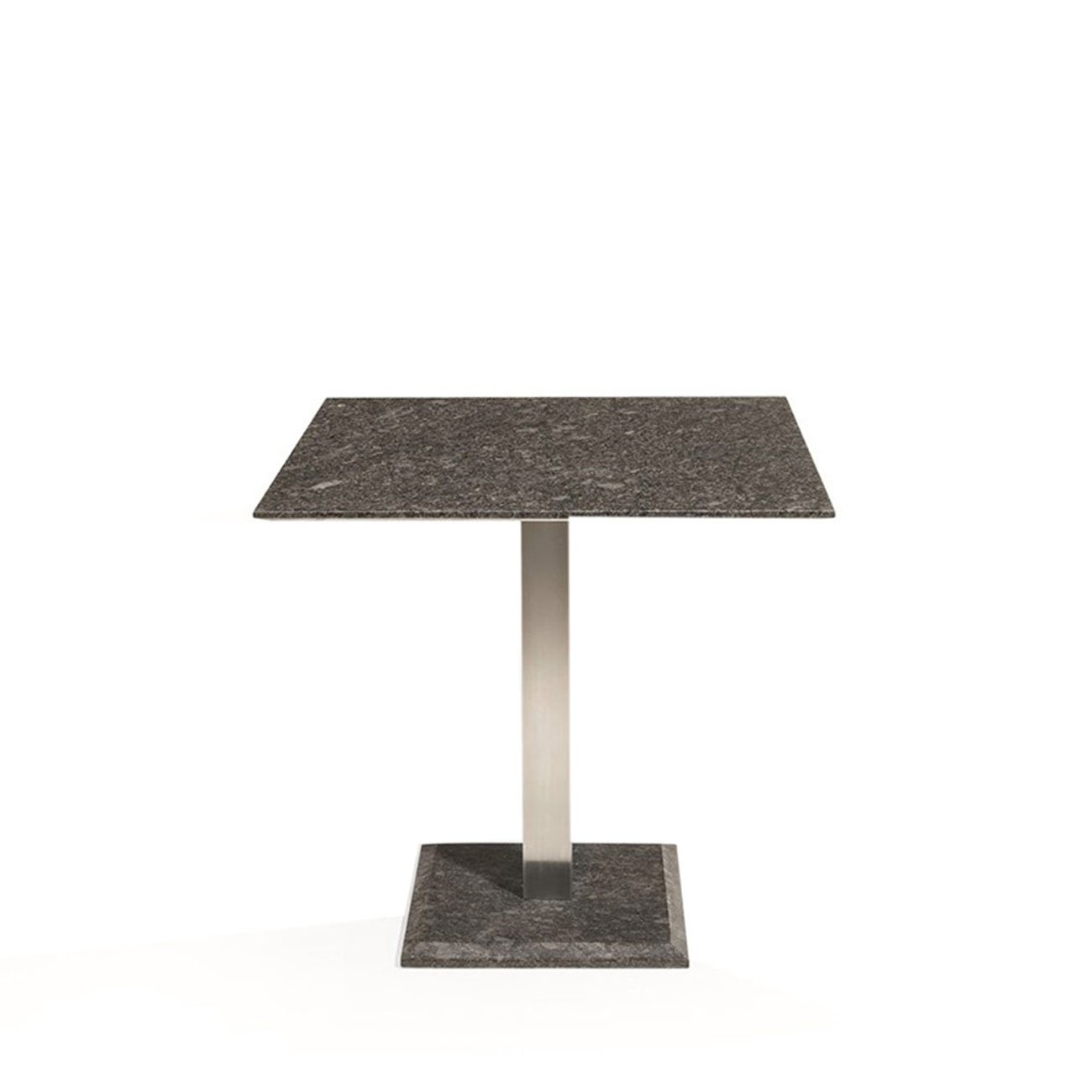 OUTLIV. Gartentisch Edam Gartentisch 80x80 cm Edelstahl/Granit Pearl Black Tisch Garten