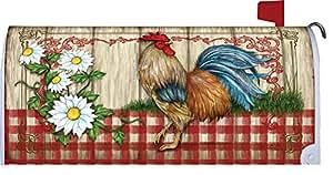 País casa Gallo decorativo buzón para correo, cierre magnético caja para Patio jardín decoración envoltura de correo 17,25x 20,75pulgadas