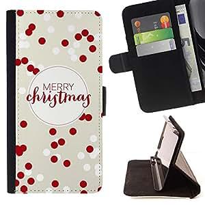 Momo Phone Case / Flip Funda de Cuero Case Cover - Feliz Navidad roja blanca de invierno de Navidad - Samsung Galaxy S6 Active G890A