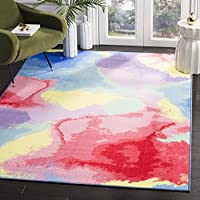 Safavieh Paint Brush Collection PTB121A Fuchsia and Yellow Area Rug (3' x 5')