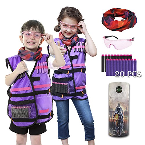 Kids Tactical Vest Kit for Nerf Rebelle Series Blaster by UWANTME