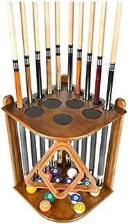 ISZY Billiards Cue Rack Only - 10 Pool - Billiard Stick & Ball Floor Rack - Holder Choose Mahogany, Black