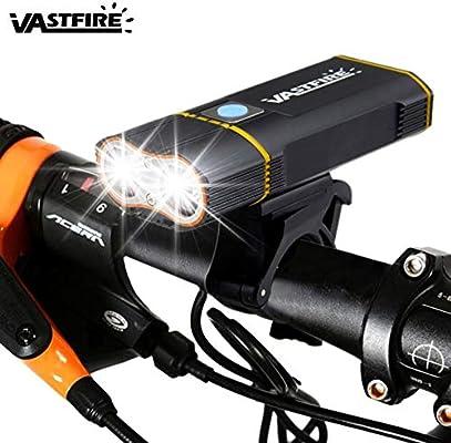 VASTFIRE Luz de Bicicleta, USB Recargable Luces para Bicicletas ...