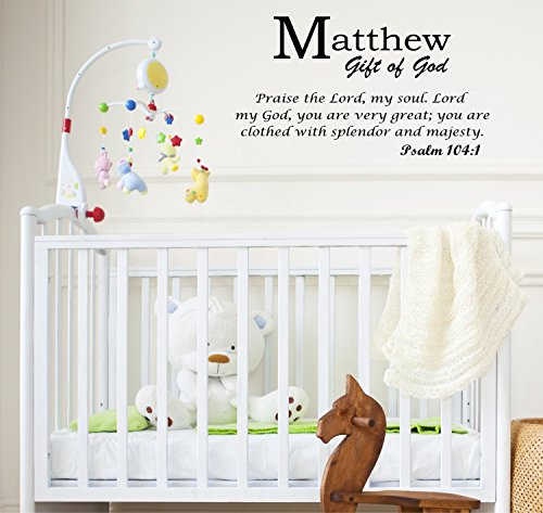 Baby Names Wall Decals Displaying the Meaning of Names Vinyl