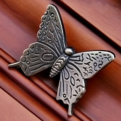 10 Pcs Butterfly Alloy Cabinet Knobs, 43mm Butterfly Shape Drawer Kitchen Cabinets Dresser Cupboard Wardrobe Pulls Handles (as Shown) by cyclamen9 (Image #7)