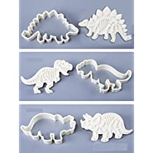 The Easiest Dinosaur Fossil Cookies Ever Cutter/Stampers-Set of 6 PVC Cream Chocolate Decoration Mold DIY Baking Mould for Fondant Cake / Biscuit / Play Doh Arts by Palker sky